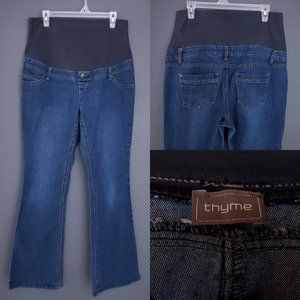 THYME MATERNITY Bootcut Jeans Dark Full Band Large